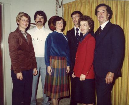 Martin Nethery Family: Patricia, Kieran, Dana, Michael, Val and Martin